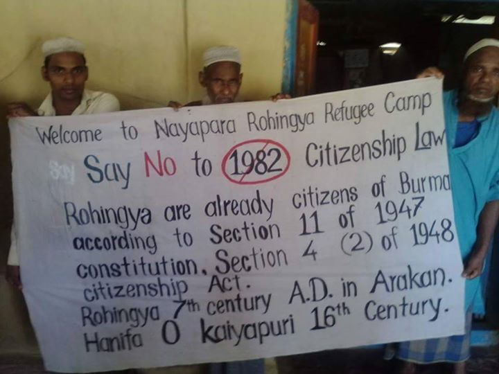 Rohingya Refugees Protesting 1982 Citizenship Laws